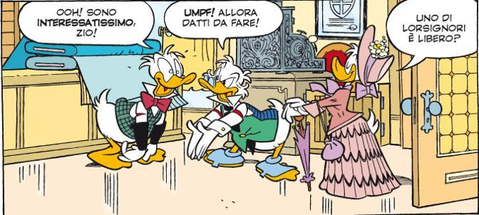 Le vignette della storia scritta da Alessandro Sisti e illustrata da Giorgio Cavazzano (Disney)