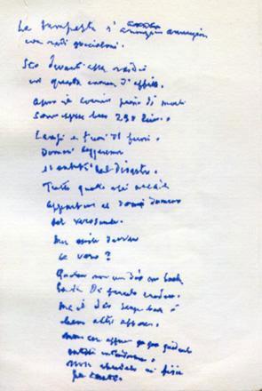 Eugenio Montale, un manoscritto inedito
