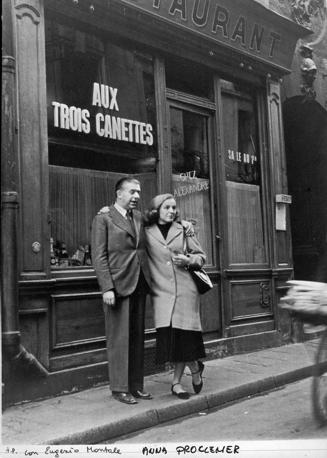 Anna Proclemer ed Eugenio Montale a Parigi