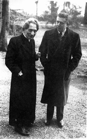 Montale con Cesare Angelini (foto Rcs Quotidiani)