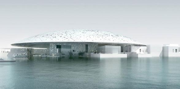 Il Louvre di Abu Dhabi, parte del complesso di Saadiyat Island, di Jean Nouvel