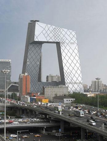 Il Palazzo della tv di Stato cinese a Pechino, di Ole Scheeren con Rem Koolhas