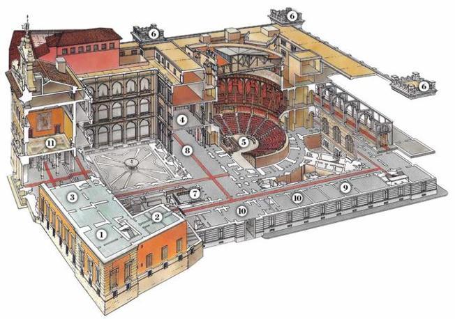 Spaccato trasversale del Palazzo di Montecitorio