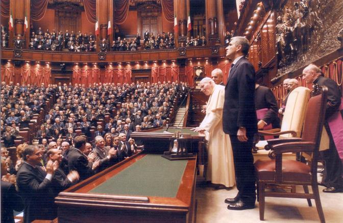 Papa Giovanni Paolo II a Montecitorio, 14 novembre 2002