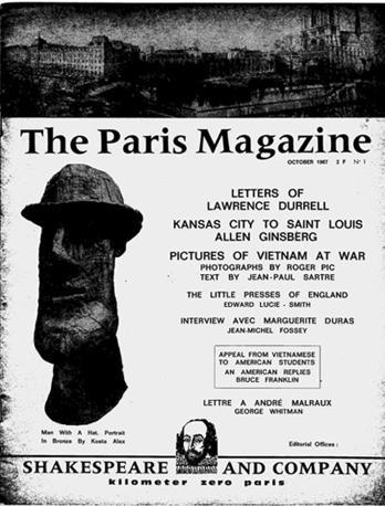Tra le attività della Shakespeare and Company, la rivista in lingua inglese «The Paris Magazine»