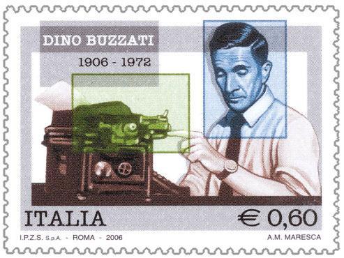 Francobollo emesso nel 2006 che celebra il centenario della nascita di Dino Buzzati