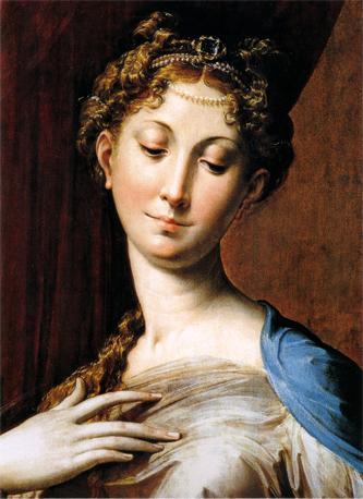 Parmigianino, particolare della