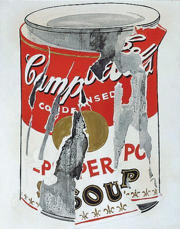Il celebre barattolo della Campbell?s soup dipinto da Andy Warhol