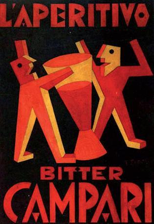 Un manifesto pubblicitario di Fortunato Depero per Campari