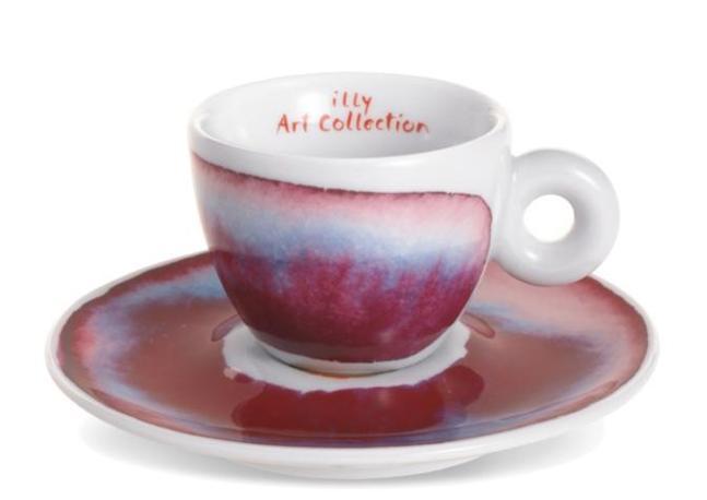 Una delle tazzine disegnate da Francesco Clemente per la Art Collection del caffè Illy