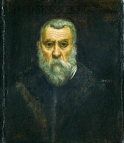 Uno dei due autoritratti presenti in mostra di Jacopo Robusti, (detto «il Tintoretto»), del 1587: un esempio della sua maestria nel realizzare i fondi bruni. L?altro fu realizzato in età giovanile (1546 circa)