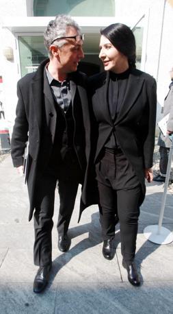 Marina Abramovic con l'architetto Stefano Boeri (Fotogramma/Vince Paolo Gerace)