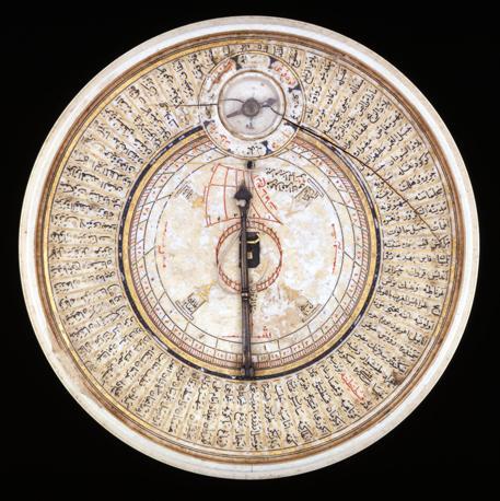Meridiana in avorio con indicatore della Mecca (1582)