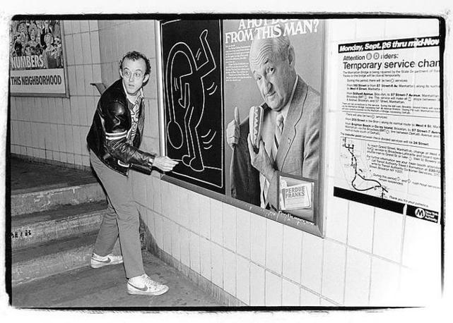 Keith Haring nel metrò di New York (1983)