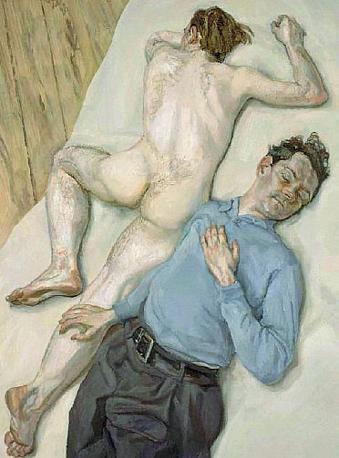 «Due uomini» di Lucien Freud, (1987)