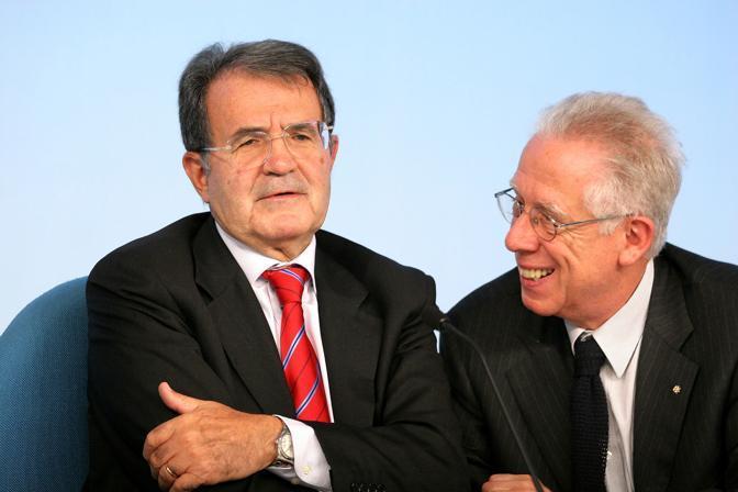 Morto Tommaso Padoa-Schioppa. Con Romano Prodi