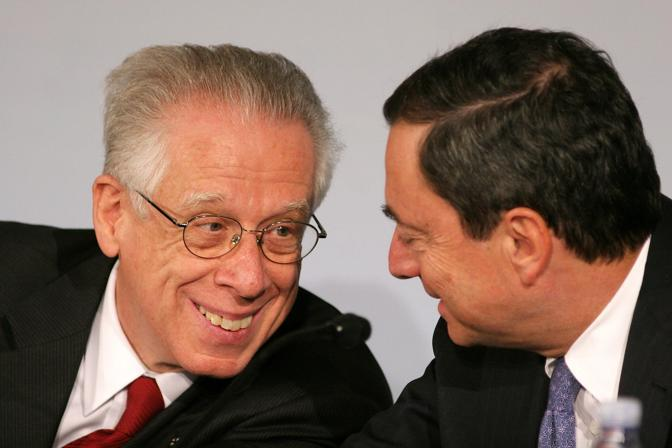 Morto Tommaso Padoa-Schioppa. Con Mario Draghi