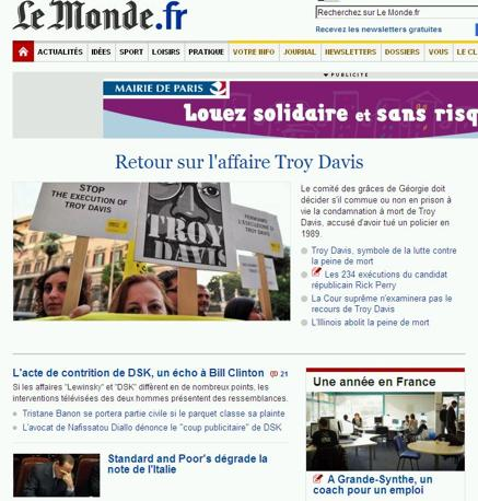 Per Le Monde è la terza notizia