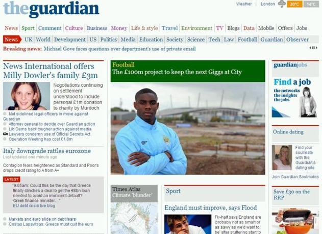 Seconda delle news sul Guardian