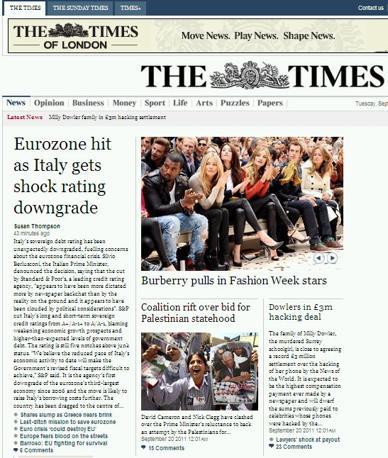Apertura sul Times