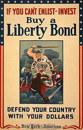 «Se non puoi arruolarti, investi: compra le obbligazioni della Libertà, difendi il tuo Paese con i tuoi dollari» (Usa, Seconda guerra mondiale)