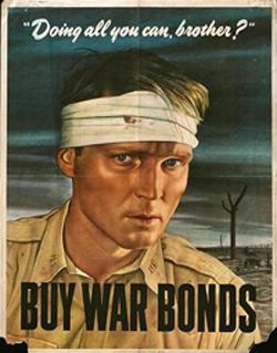 «Stai facendo tutto quello che puoi, fratello? Compra i buoni di guerra» (Usa, Seconda guerra mondiale)