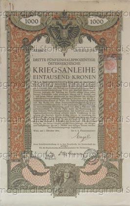 Buono del prestito austriaco della Prima guerra mondiale