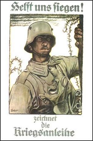 Manifesto tedesco della Prima guerra mondiale: «Aiutateci a vincere, sottoscrivete il prestito di guerra»
