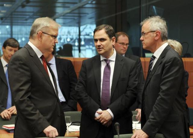 Olli Rehn e  Philippos  Sachinidis
