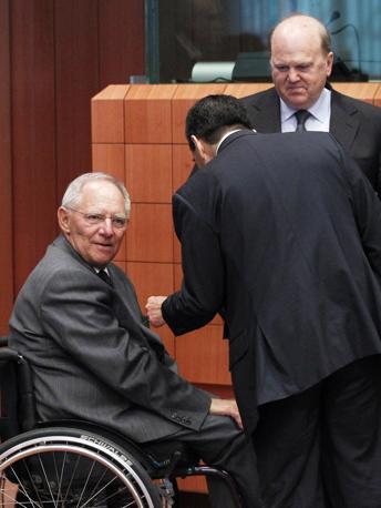 Il ministro tedesco Wolfgang Schaeuble (Reuters)