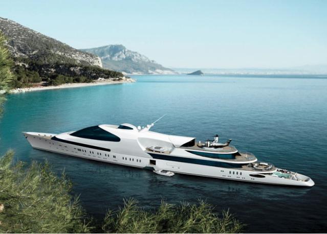 Abu-Dhabi Swift, yacht da 141 metri di proprietà dell'emiro arabo