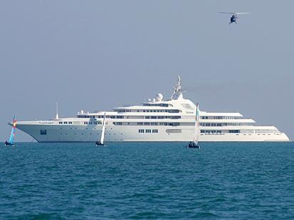 L'altro luxury yacht di proprietà della famiglia qatariota