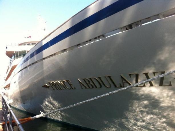 Il Prince Abdulaziz, yacht di 147 metri appartenente alla famiglia reale saudita