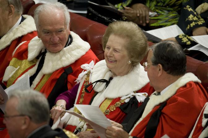 L'ex primo ministro Margaret Thatcher (Reuters)