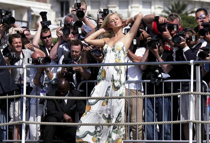 Maggio 2005: Paris Hilton ospite al 58° festival di cinema di Cannes (Eric Gaillard/Reuters)
