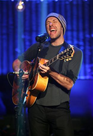 Chris Martin dei Coldplay (Ap)