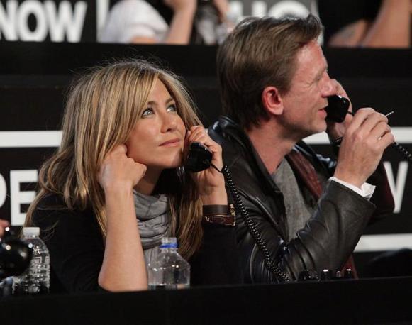 Jennifer Aniston e Daniel Craig (Ap)