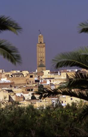 Un'immagine di repertorio del minareto crollato a Meknes (Abedljalil Bounhar/Ap)