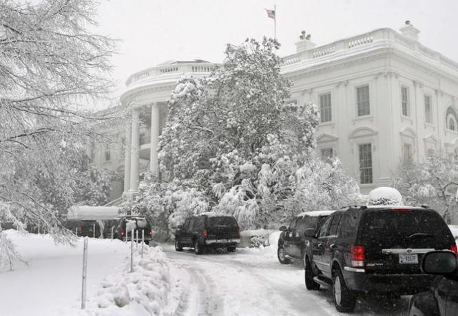 La Casa Bianca sotto la neve (Reuters)