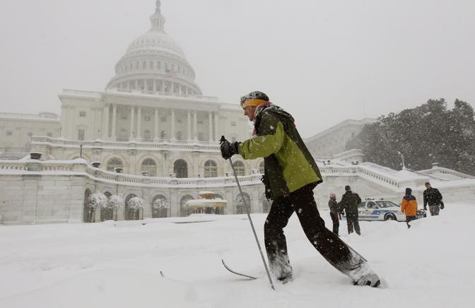 Con gli sci a Washington (Ap)