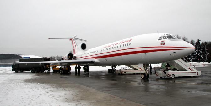 L'aereo presidenziale andato distrutto nel disastro (Afp)
