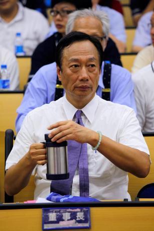Il taiwanese Terry Gou, fondatore e presidente del gruppo Foxconn (Epa)