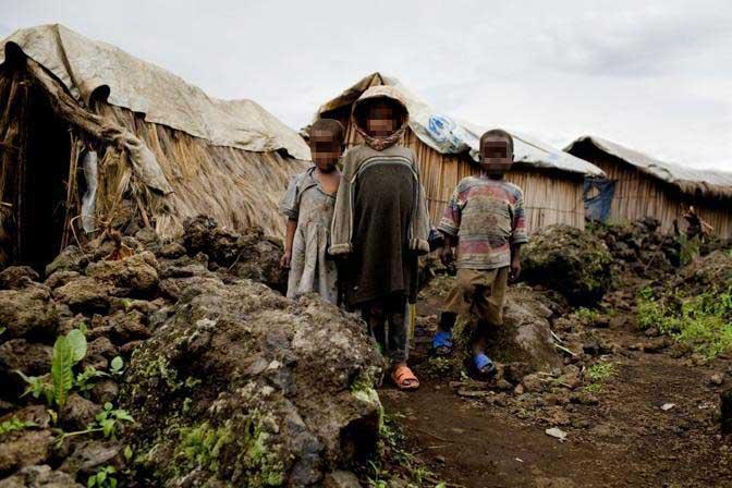 Bambini nel Campo di Kahe, provincia del nord Kivu (Msf)