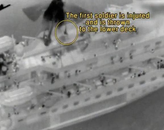 Negli scontri a bordo, che hanno provocato la morte di almeno 10 attivisti, sono rimasti feriti anche alcuni soldati israeliani (Milestone Media)