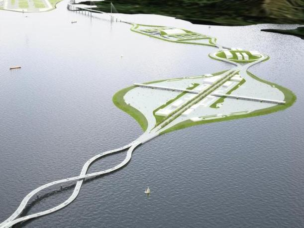 """Il progetto del ponte """"Flipper"""""""