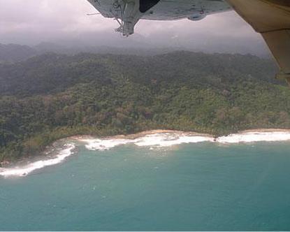 Una foto del «Darien Gap», l'immensa giungla che divide la Colombia da Panama