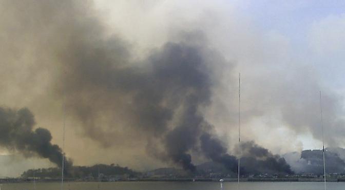 L'isola della Corea del Sud colpita (Reuters)