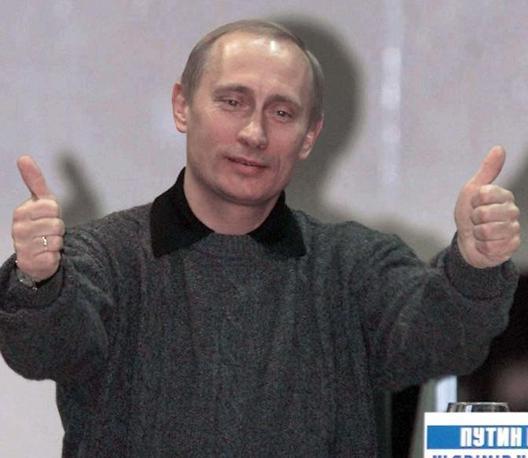 Il premier russo Vladimir Putin  «è un capobranco» è la relazione tra lui e il presidente Medvedev è «come quella tra Batman e Robin» (Ansa)