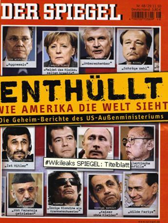 Il tedesco »Der Spiegel». Sotto la foto di Silvio Berlusconi la didascalia: «Feste selvagge»