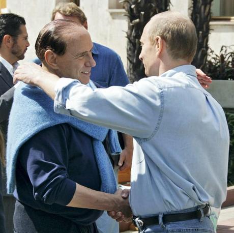 Nel 2005 si salutano a Sochi sul mar Nero (Ansa)